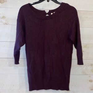 NORDSTROM FRENCHI Women's Brown Angora Wool Blend Open Back Sweater Size S